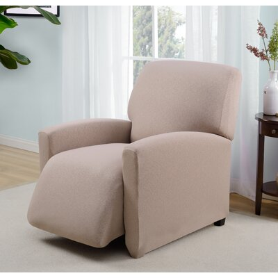 Box Cushion Recliner Slipcover Upholstery: Beige
