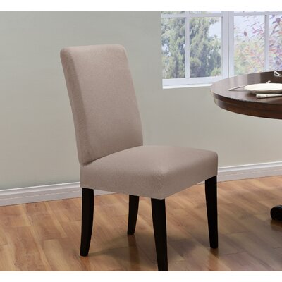 Box Cushion Dining Chair Slipcover Upholstery: Beige