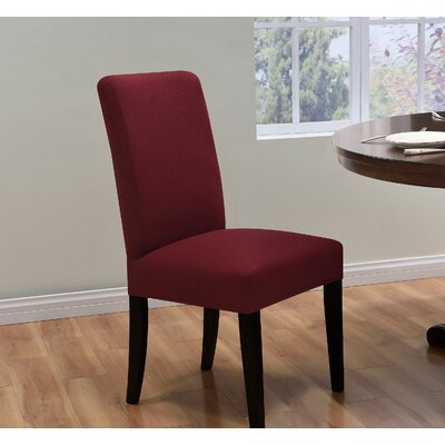 Box Cushion Dining Chair Slipcover Upholstery: Ruby