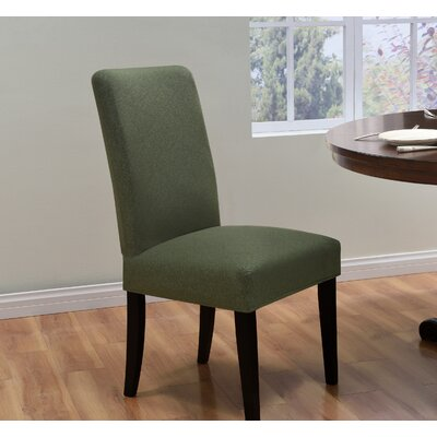 Box Cushion Dining Chair Slipcover Upholstery: Forest