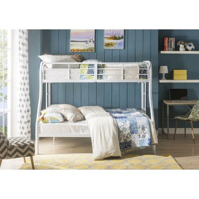 Hallum Twin Over Full Bunk Bed Bed Frame Color: White