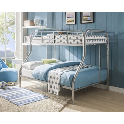 Hallum Twin Over Full Bunk Bed Bed Frame Color: Silver
