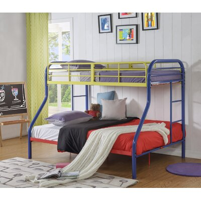 Hallum Twin Over Full Bunk Bed Bed Frame Color: Rainbow