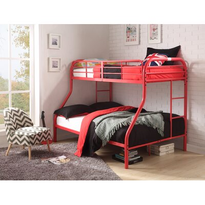 Hallum Twin Over Full Bunk Bed Bed Frame Color: Red