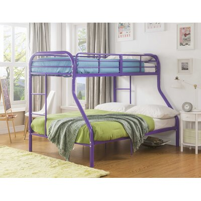 Hallum Twin Over Full Bunk Bed Bed Frame Color: Purple