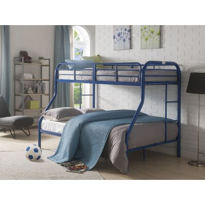 Hallum Twin Over Full Bunk Bed Bed Frame Color: Blue
