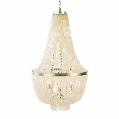 Glendive Shell Large Empire Chandelier Size: 42 H x 24.25 W x 24.25 D