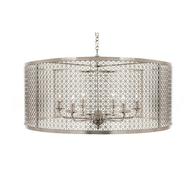 Mod X Large Drum Pendant Finish: Nickel