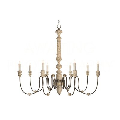 Lena Candle-Style Chandelier Finish: Rustic White