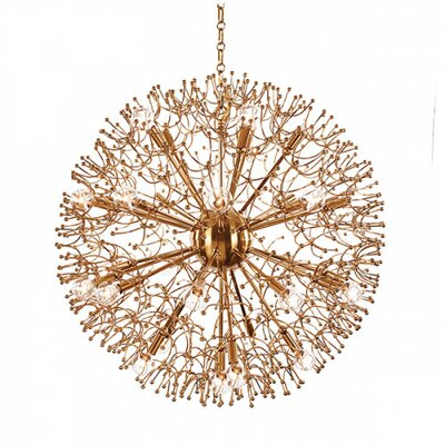 Organic Globe Sputnik Chandelier Finish: Antique Brass