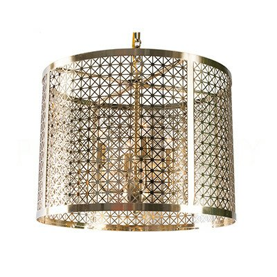 Mod X Drum Pendant Finish: Antique Brass
