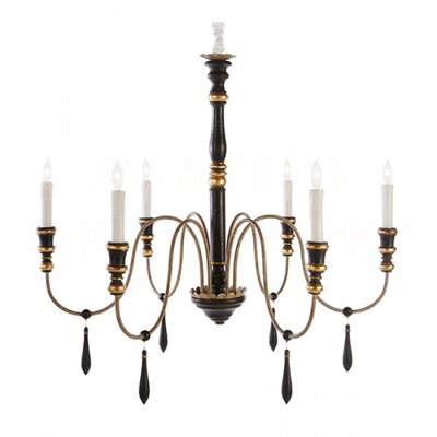 6-Light Candle-Style Chandelier Size: 34.57 H x 36 W x 36 D