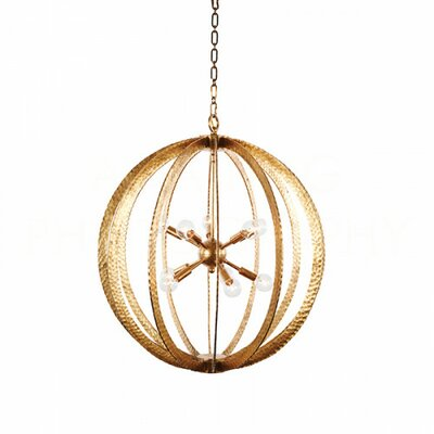 Geo Large Hammered Circle Globe Pendant Finish: Gold