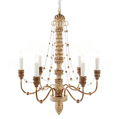 Lena Small Candle-Style Chandelier Finish: Gold