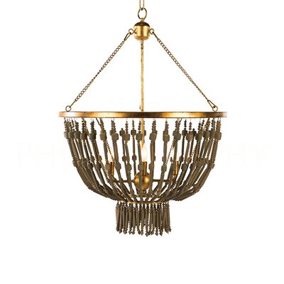 Cole Candle-Style Chandelier Finish: Brown