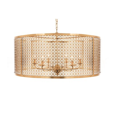 Mod X Large Drum Pendant Finish: Antique Brass