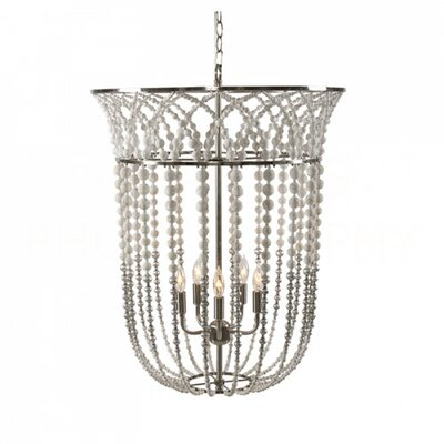 Flared Bell Lantern Pendant Finish: Rustic White/Silver Leaf/Nickel Plated Finish