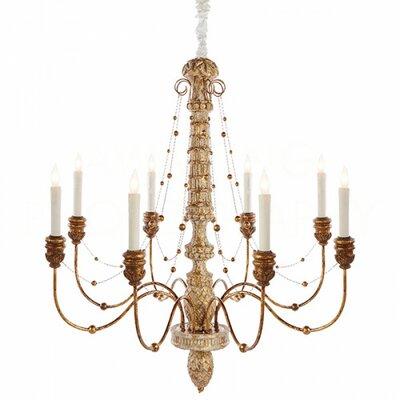 Lena Large Candle-Style Chandelier Finish: Gold