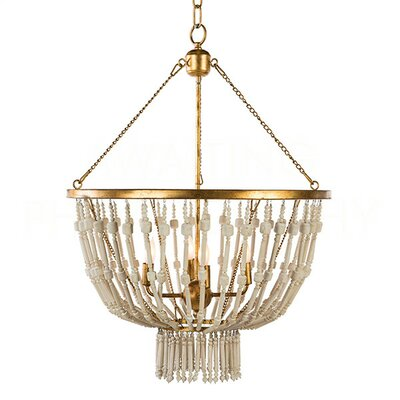 Cole Candle-Style Chandelier Finish: Antique White