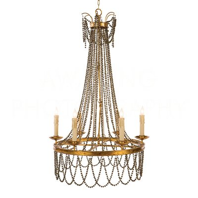 Amber Candle-Style Chandelier Finish: Rustic Brown/Antique Gold Leaf