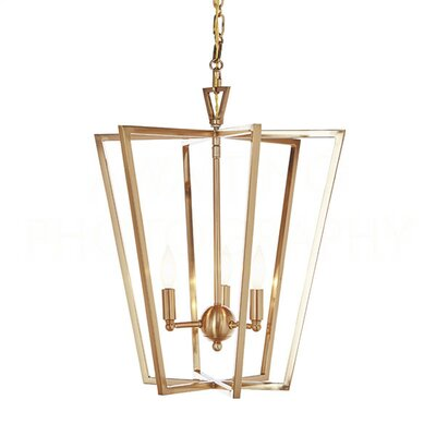 Chan Geo Foyer Pendant Finish: Antique Brass