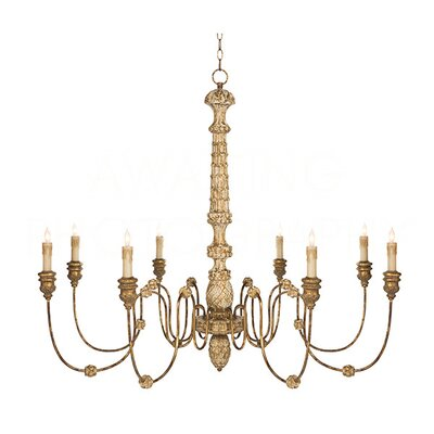 Lena Candle-Style Chandelier Finish: Rustic Gold Leaf
