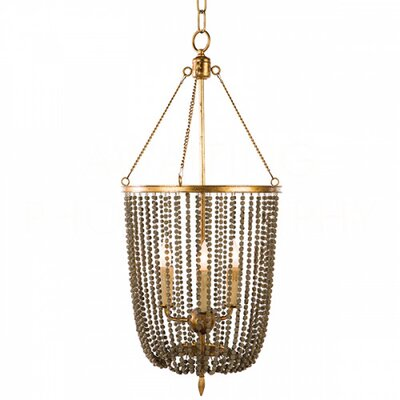 Gailey Mini Chandelier Finish: Rustic Brown/Antique Gold Leaf