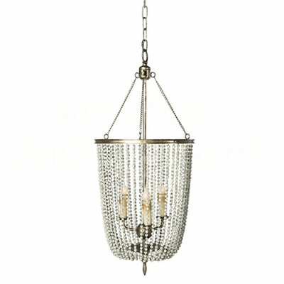 Gailey Mini Chandelier Finish: Rustic Gray/Antique Silver Leaf