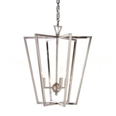 Chan Geo Foyer Pendant Finish: Nickel