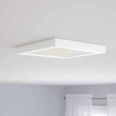 Emmaus 1-Light LED Flush Mount Finish: White, Size: Square 1 H x 9 W x 9 D