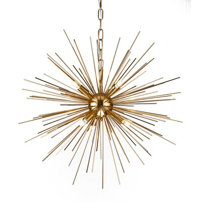 Kamila Iron Spike Fixture 6-Light Sputnik Chandelier