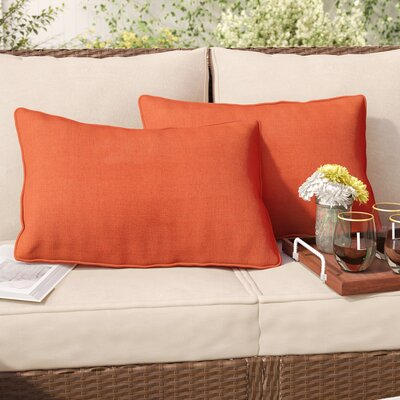 Thorson Outdoor Lumbar Pillow Color: Orange