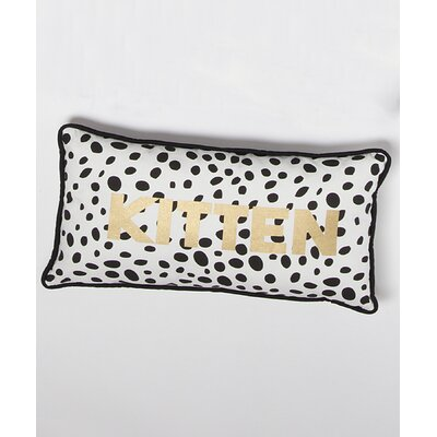 Phanto Dalmation Kitten 100% Cotton Lumbar Pillow