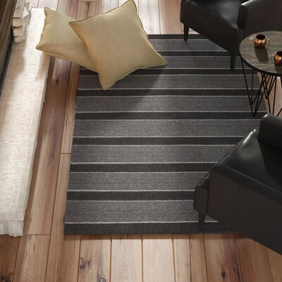 Dumont Modern Hand-Woven Charcoal Area Rug Rug Size: Rectangle 2 x 3