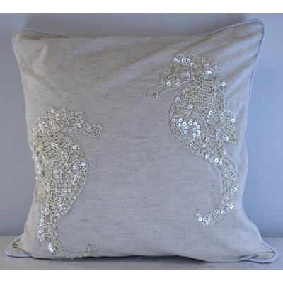 Gowanus Sea Horse Throw Pillow