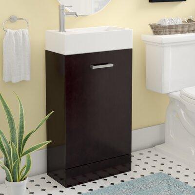 Lando Modern 19 Single Bathroom Vanity Set Base Finish: Espresso
