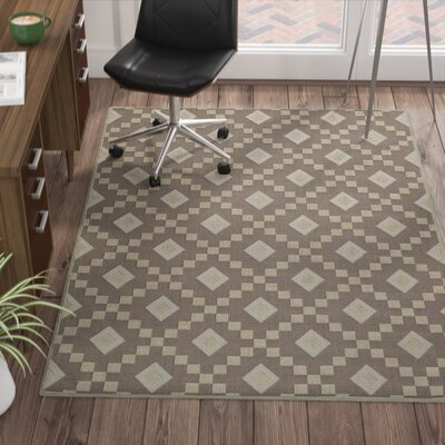 Heim Nature Cotton Diamond Trellis Brown/Cream Area Rug Rug Size: 27 x 6