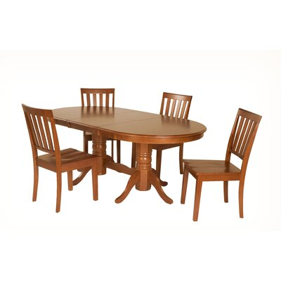 Inwood 5 Piece Extendable Dining Set Color: Saddle Brown