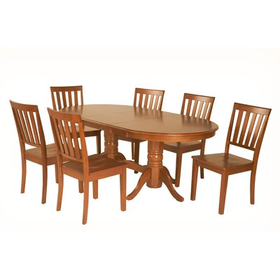 Inwood 7 Piece Extendable Dining Set Color: Saddle Brown