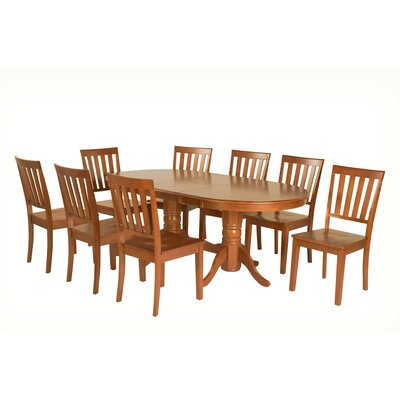 Inwood 9 Piece Extendable Dining Set Color: Saddle Brown