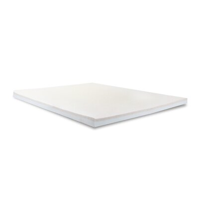 3 Copper Infused Memory Foam Mattress Topper Bed Size: Queen