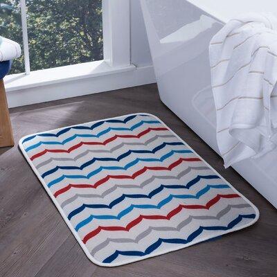 Finnigan Fish Tails Foam Core Comfort Bath Rug Size: 20 W x 30 L