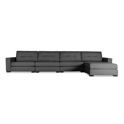 Brose Sectional Upholstery: Charcoal, Orientation: Right Hand Facing