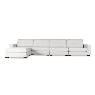 Brose Sectional Upholstery: White, Orientation: Left Hand Facing