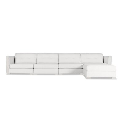 Steffi Buttoned Chaise Modular Sectional Upholstery: White, Orientation: Right Hand Facing