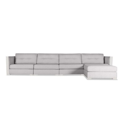 Steffi Buttoned Chaise Modular Sectional Upholstery: Gray, Orientation: Left Hand Facing