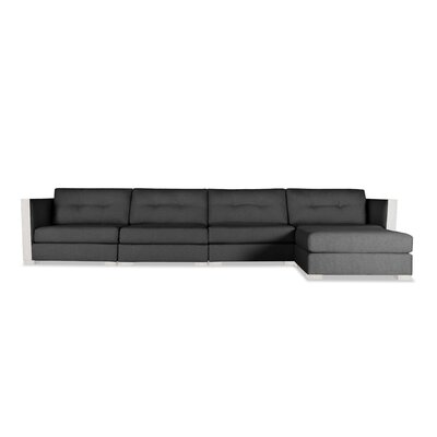 Steffi Buttoned Chaise Modular Sectional Upholstery: Charcoal, Orientation: Right Hand Facing
