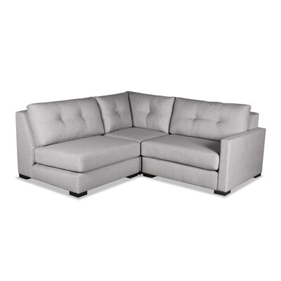 Secrest Sectional Upholstery: Gray, Orientation: Right Hand Facing