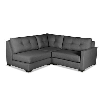 Secrest Sectional Upholstery: Charcoal, Orientation: Right Hand Facing