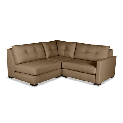 Secrest Sectional Upholstery: Brown, Orientation: Right Hand Facing